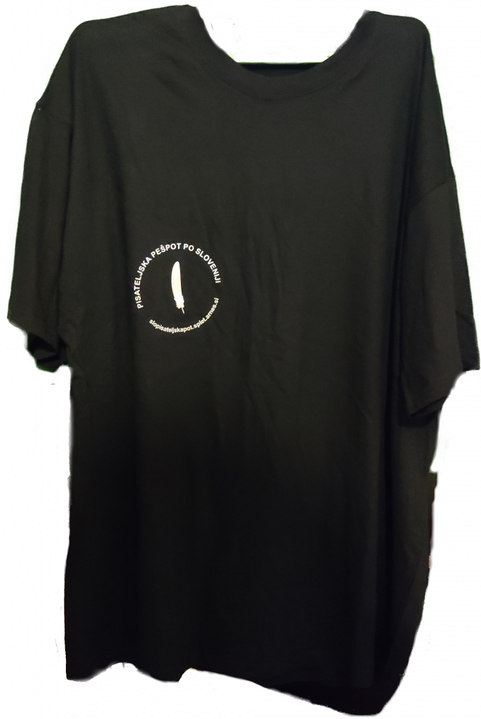 Majica Pisateljska pešpot po Sloveniji (prosojni logotip)